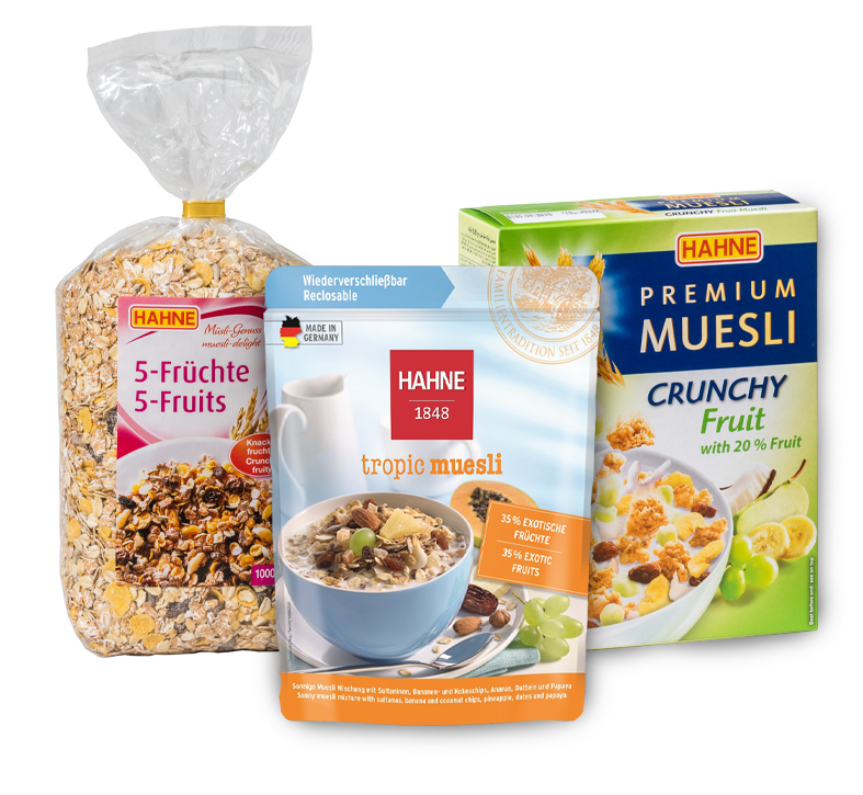 Discover our variety of muesli